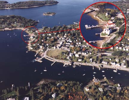 Aerial view of Chester yacht Club