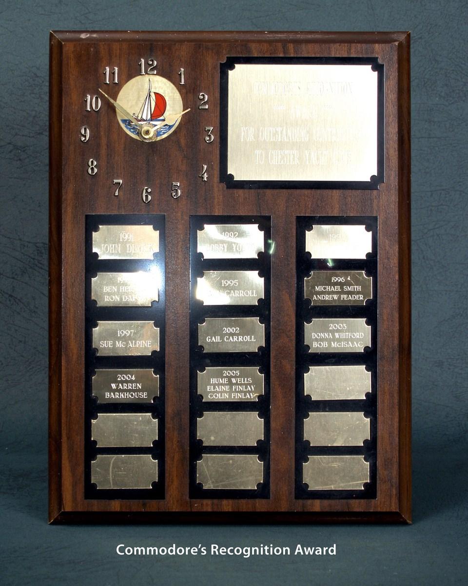 Commodore's Recognition Award
