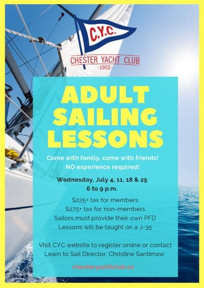 CYC Adult Sailing Lessons